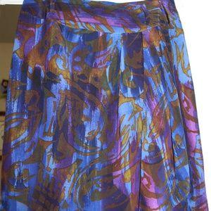 Tahari Silk Mini Skirt